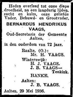 Bernardus Hendrikus Vaags