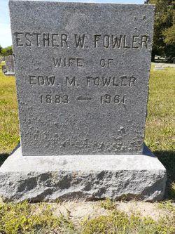 Esther Virginia <I>Webster</I> Fowler