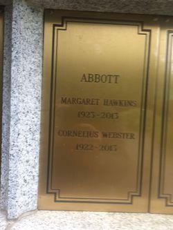 Margaret <I>Hawkins</I> Abbott