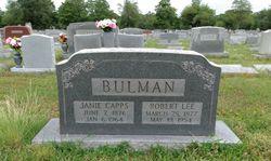 """Jane Elizabeth """"Janie"""" <I>Capps</I> Bulman"""