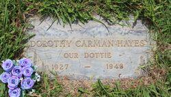 Dorothy Velma <I>Carman</I> Hayes