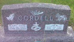 Mary Jane <I>Byer</I> Cordell