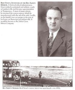 1911, Reid Stout, School Bus Safety Mirror Inventor, Born