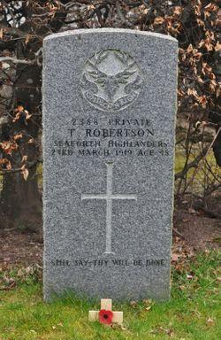 Pte. Thomas Robertson