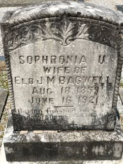 Sophronia Urminia <I>Evans</I> Bagwell