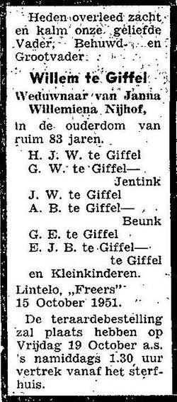 Willem te Giffel
