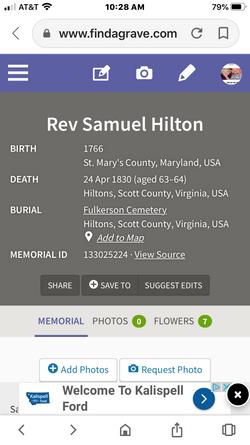 Rev Samuel Hilton