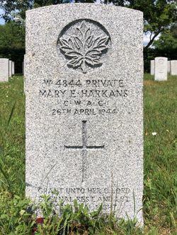 Pvt Mary Evelyn Harkans