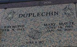 Mary Lee <I>Matte</I> Duplechin