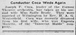 Sadie <I>Brady</I> Coca