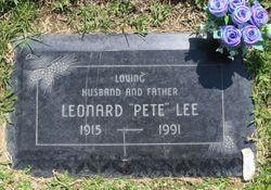 """Leonard Wilbur """"Pete"""" Lee"""