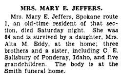 Mary E <I>Salisbury</I> Jeffers