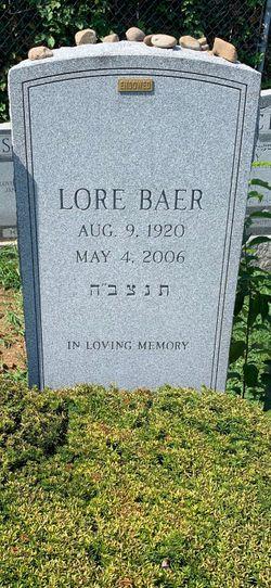 Lore <I>Gunzenhäuser</I> Baer