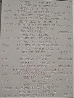 Maj Harold P Hensley
