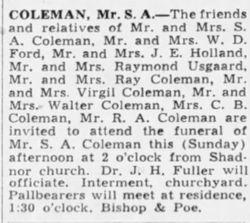 Seaborn Abner Coleman