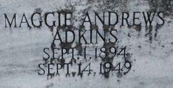 Maggie D <I>Andrews</I> Adkins