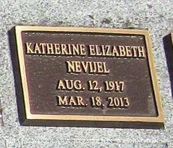Katherine Elizabeth Nevijel