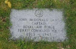 """Capt John McDonald """"Jack"""" Dame"""