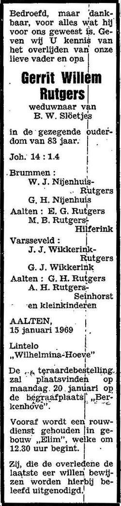 Gerrit Willem Rutgers