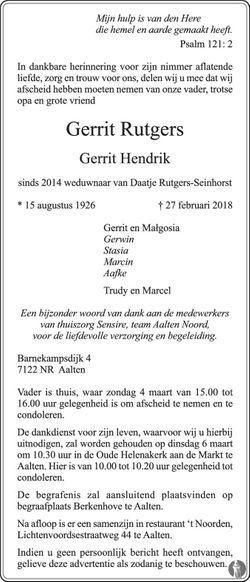 Gerrit Hendrik Rutgers