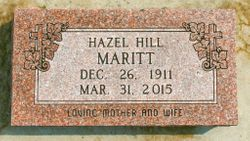 Hazel A <I>Hill</I> Maritt