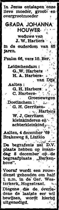Grada Johanna <I>Houwer</I> Harbers