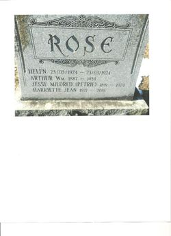 Jessie Mildred <I>Petrie</I> Rose