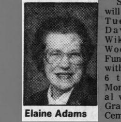 Elaine D <I>David</I> Adams