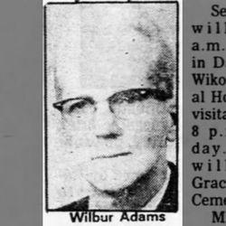 Wilbur F Adams Sr.