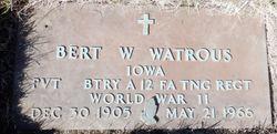 """Bert Wilson """"Speed"""" Watrous Sr."""