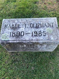 """Mabel T """"Mary"""" <I>Duffy</I> Oliphant"""