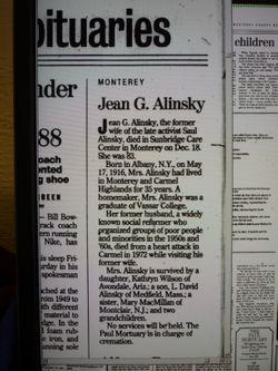 Jean <I>Graham</I> Alinsky