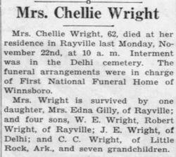 Chellie <I>Laird</I> Wright