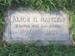 Alice Gertrude <I>Taylor</I> Hansen