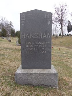 "Elizabeth Ann ""Betsy"" <I>Hicks</I> Hanshaw"