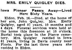 Emily <I>Smith</I> Quigley