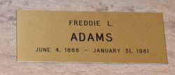 Freddie L <I>Lindsey</I> Adams