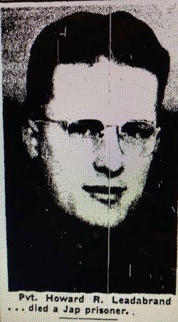 Pvt Howard R. Leadabrand