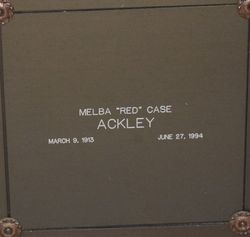 "Melba ""Red"" <I>Case</I> Ackley"