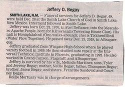 Jeffery D. Begay