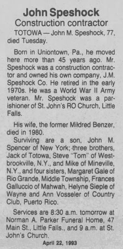 John Speshock Jr.