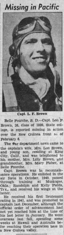 Capt Lon F Brown