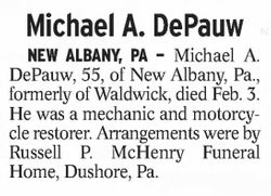 Michael A DePauw