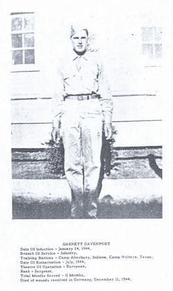 Sgt Garnett Nelson Davenport