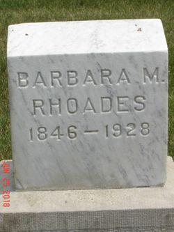 Barbara M. <I>Hoerner</I> Rhoades