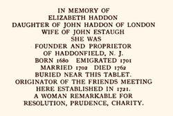 Elizabeth <I>Haddon</I> Estaugh