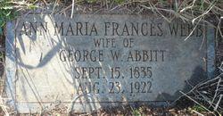Ann Maria Frances <I>Webb</I> Abbitt