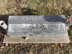 Dorothy May <I>Holman</I> Simpson
