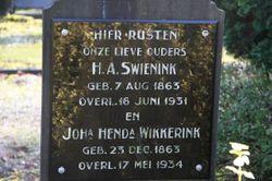 Johanna Hendrika <I>Wikkerink</I> Swienink