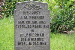 Hendrika Johanna <I>Bierman</I> Rensink